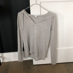Nordstrom signature cashmere hooded sweater.